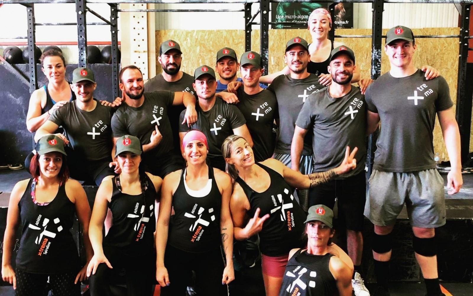 Equipe x:trema lors d'une compétition de crossfit à CrossFit Casteu, en octobre 2020